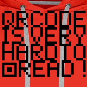 QR Code is very hard to read T-Shirts - Männer Premium Hoodie