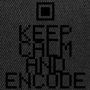 Keep calm and encode T-Shirts - Snapback-caps