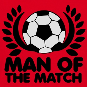 man of the match BEST PLAYER football with wreath  Aprons - Men's T-Shirt
