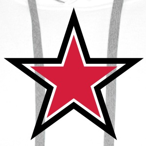 sharp red star with sharp black outline T-Shirts - Men's Premium Hoodie