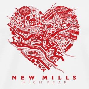 LOVE NEW MILLS Red Other - Men's Premium T-Shirt