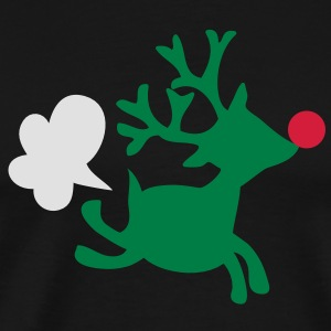rudolph the red nosed reindeer with a fart  Aprons - Men's Premium T-Shirt