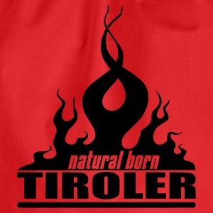 Orange/blau natural_born_tiroler T-Shirts - Turnbeutel