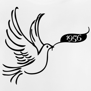 Peace dove with the year 1956 Shirts - Baby T-Shirt