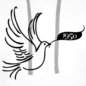 Dove of Peace med År 1950 Skjorter - Premium hettegenser for menn