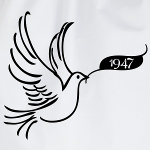 Peace dove with year 1947 Shirts - Drawstring Bag