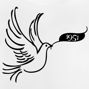 Peace dove with year 1951 Shirts - Baby T-Shirt