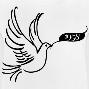 Peace dove with year 1958 Shirts - Baby T-Shirt