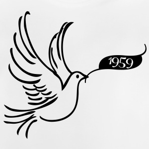 Peace dove with year 1959 Shirts - Baby T-Shirt