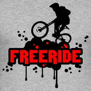 Blended grey Freeride Jumpers - Men's Slim Fit T-Shirt