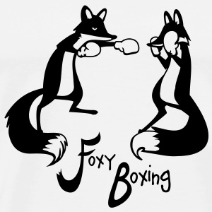 Foxy Boxing one colour Pullover & Hoodies - Männer Premium T-Shirt