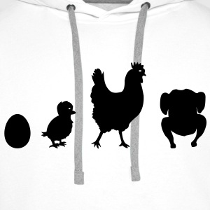 Chicken Evolution  Aprons - Men's Premium Hoodie
