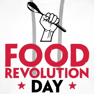 food revolution day Tee shirts - Sweat-shirt à capuche Premium pour hommes