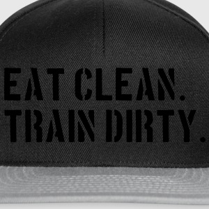 Eat clean. Train dirty. Taschen - Snapback Cap