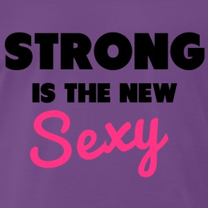 Strong Is the New Sexy Gensere - Premium T-skjorte for menn