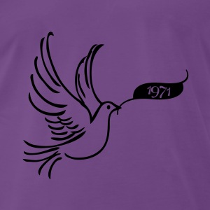 Dove of Peace med år 1971 Sweatshirts - Herre premium T-shirt
