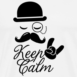 Funny keep calm like a moustache boss t-shirts Other - Men's Premium T-Shirt