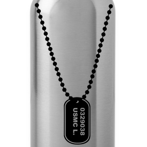 dogtag necklace ketting T-shirts - Drinkfles
