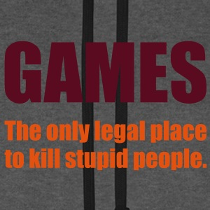Games - The only legal place... Bags  - Unisex Baseball Hoodie