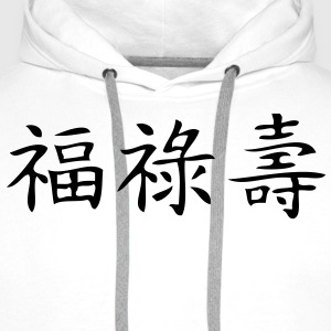 happiness,wealth and longevity T-shirts - Premiumluvtröja herr