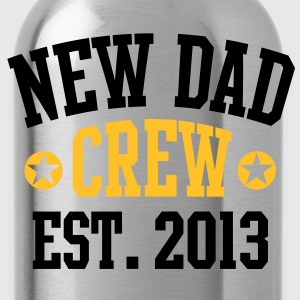 NEW DAD CREW EST 2013 T-Shirt HW - Water Bottle