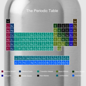 Blue Stylish Periodic Table of Elements Hoodies & Sweatshirts - Water Bottle