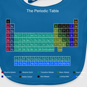 Blue Stylish Periodic Table of Elements Shirts - Baby Organic Bib