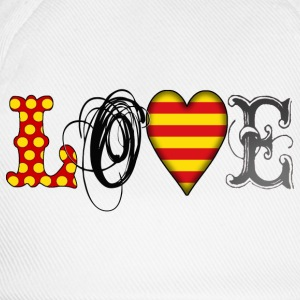 Love Catalonia Black T-Shirts - Baseballkappe