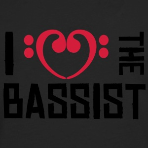 I love the Bassist Sweaters - Mannen Premium shirt met lange mouwen