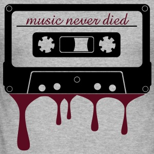 music never died kassett  Tröjor - Slim Fit T-shirt herr