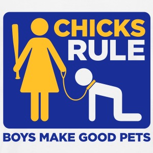 Chicks Rule 2 (2c)++2012 Sweaters - Mannen Premium T-shirt