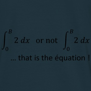 to_be_or_not_to_be_humour_maths Sweat-shirts - T-shirt Homme