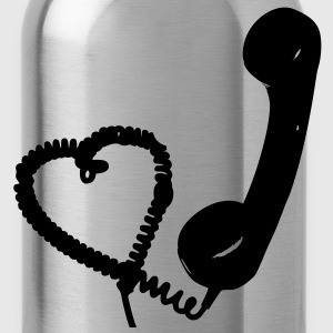 Heart retro telephone T-Shirts - Water Bottle