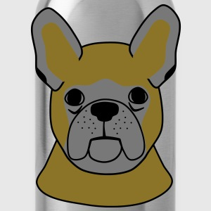 French Bulldog head  Aprons - Water Bottle