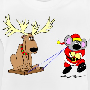 Christmas Raindeer & Mouse - Baby T-Shirt