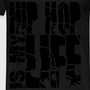 hip hop is my life Sweaters - Mannen Premium T-shirt