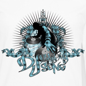 Vit Dj Play My Song T-shirts - Långärmad premium-T-shirt herr