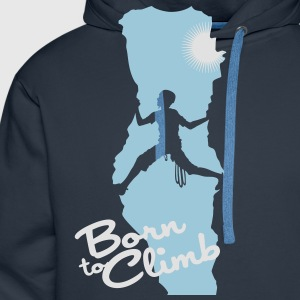Born to climb - Men's Premium Hoodie