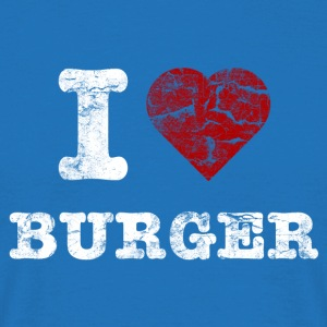 i love burger vintage light bolsas - Camiseta hombre