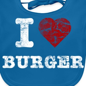 i love burger vintage light T-shirts - Ekologisk babyhaklapp