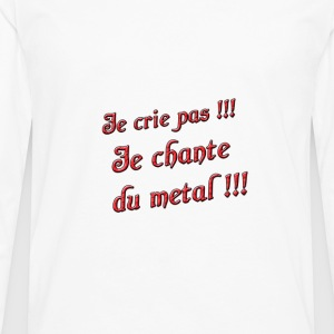 bebe-metal.gif Tee shirts - T-shirt manches longues Premium Homme