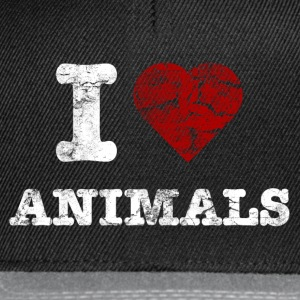 i_love_animals_vintage_hell Camisetas - Gorra Snapback