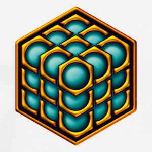 3D Cube - crop circle - Metatrons Cube - Hexagon / Sweat-shirts - T-shirt Premium Homme