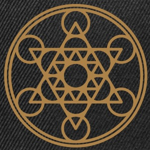 Metatrons Cube, Star Tetrahedron,  Flower of Life/ Gensere - Snapback-caps