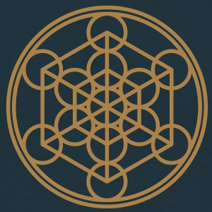 Metatron`s Cube - Hypercube - Sacred Geometry  / H - Men's T-Shirt