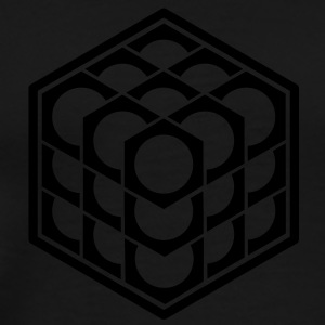3D Cube - crop circle - Metatrons Cube - Hexagon / Hoodies & Sweatshirts - Men's Premium T-Shirt