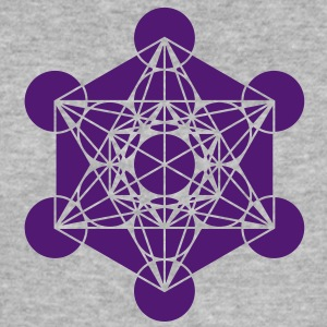 Metatrons Cube - Vector - Platonic Solids / Hoodie - Men's Slim Fit T-Shirt