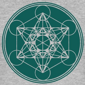 Metatrons Cube - Vector - Flower of Life / Hoodies - Men's Slim Fit T-Shirt