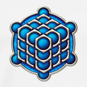 3D Cube - crop circle - Metatrons Cube - Hexagon / Gensere - Premium T-skjorte for menn