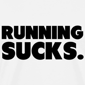 Running Sucks Gensere - Premium T-skjorte for menn